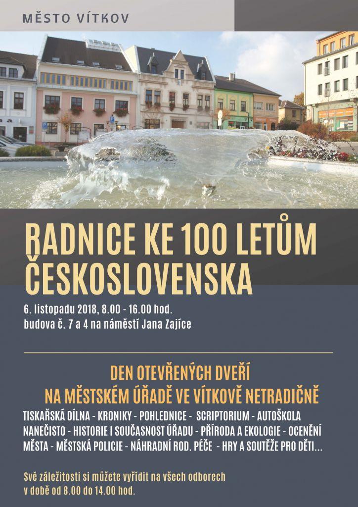 Radnice ke 100 letům ČR 1