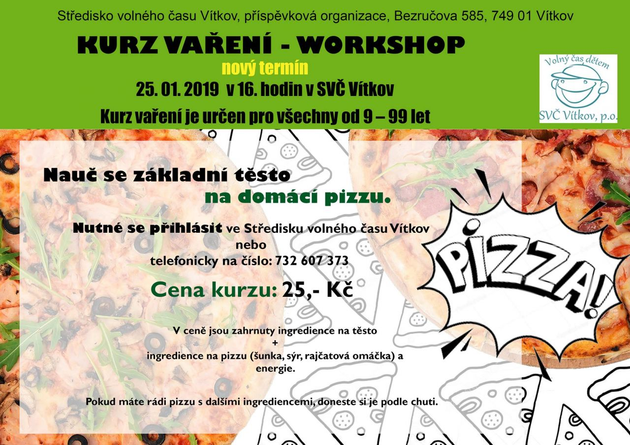 Kurz vaření - workshop pizza 1