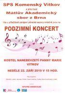 Koncert Smíšeného pěveckého sboru Komenský 1